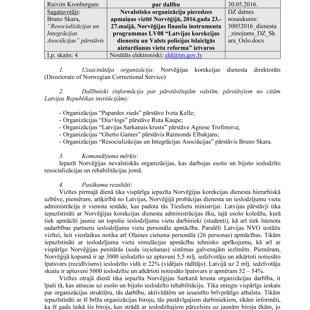 Dienesta ziņojums Tieslietu ministrijai 1 lapa